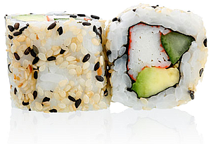 CR7 - California Roll Crabe Avocat Sauce épicée